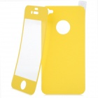 Matte Protective Front + Back Cover Skin Sticker for Iphone 4 / 4S - Yellow