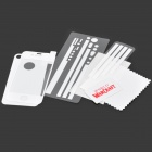 Matte Protective Front + Back Cover Skin Sticker for Iphone 4 / 4S - White
