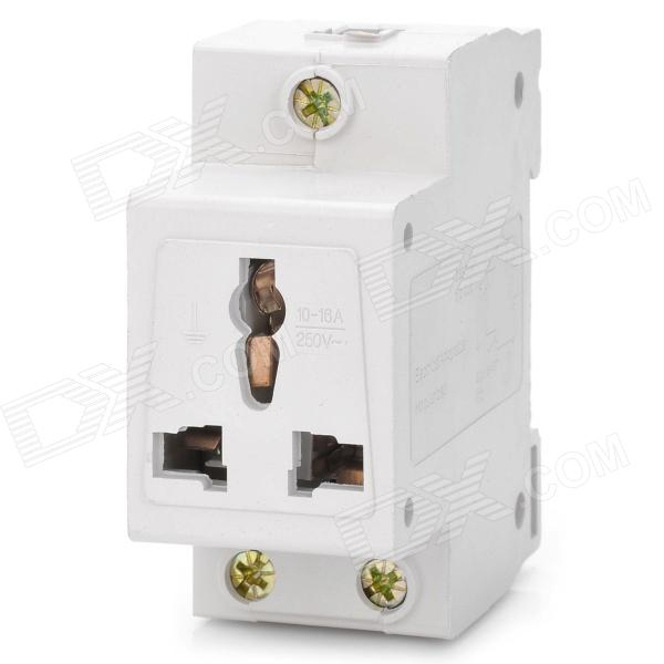 20052 Universal Power Socket Electrical Apparatus Module - White (AC 250V)