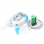Audio Baby Monitor w/ Transmitter / Receiver / Adapters - White + Blue
