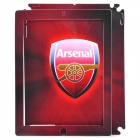 Arsenal Logo Pattern Protective Front + Back Full Skin Sticker for iPad - Red (2-Piece Pack)
