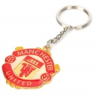 Manchester United Football Club Logo Pattern Zinc Alloy Keychain - Golden + Yellow + Silver