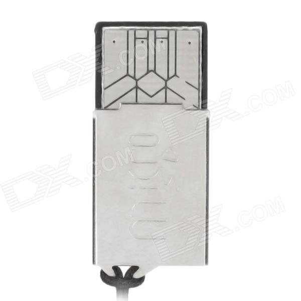Mini Iron Skin Micro SD / TF Memory Card Reader - Silver
