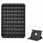 Checked Kaleidoscope Style Protective 360 Degree Rotation Case for Samsung P6800 - Black