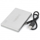 "Hitachi HD204 protectora USB 2.0 2.5 ""SATA HDD Case - Silver"