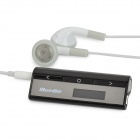 "Bluedio DF620 0.8"" LCD Rechargeable Bluetooth v3.0 + EDR Stereo Headset - Black + White"