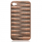 Cool 3D Bullet Style Protective Back Case w/ Screen Protector for iPhone 4 / 4S - Copper