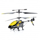 F102 Rechargeable IR Controlled 3.5-CH Aluminum Alloy R/C Helicopter - Yellow + Black
