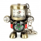Robot Style USB 2.0 Flash Drive w/ Clock / Compass / Keychain - Bronze (16GB / 1 x 377S)