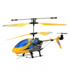 F102 Rechargeable 3.5-CH IR Controlled Aluminum Alloy R/C Helicopter - Yellow + Blue