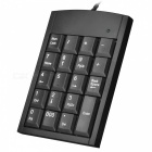 19-Key USB Numeric Keypad for Laptop Notebook - Black