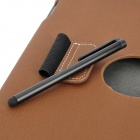 Stylish Protective PU Leather Case & Stylus Pen for Ipad 2 / The New Ipad - Brown