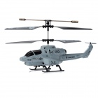 Rechargeable IR Controlled 3.5-CH R/C Missiles Launching Helicopter - Black + Grey