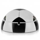 Unique Football Style USB / Battery Powered Cigarette Smokeless Ashtray - Black + White