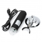 V1.8 Portable USB 2.0 20X ~ 400X Microscopio digital w / 8-LED de luz blanca - Negro