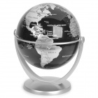 10cm All-direction Rotation English Map Administrative Globe - Silver + Black