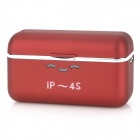 Portable External 1500mAh Emergency Power Charger for iPhone 4 / 4S - Red