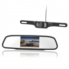 "4.3"" TFT LCD Car Vehicle Rearview Mirror Monitor Parking Sensor System - Black"