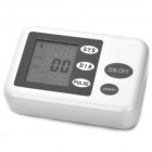 "2.5"" LCD Oscillometric Wrist Watch Blood Pressure Monitor - White (4 x AA)"