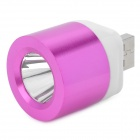 Metal USB Powered 1-LED White Light Flashlight - Deep Pink