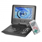 "LX-760 Portable Rotation 7"" LCD DVD Player w/ TV / Game / Card Reader - Black"