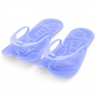 Folding Rubber Relax Slippers - Blue (Pair)