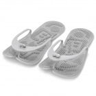 Folding Rubber Relax Slippers - Grey (Pair)