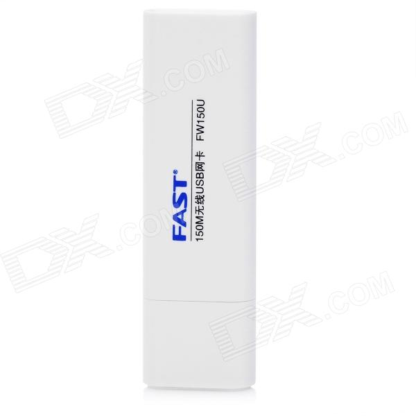 FAST FW150 20mW 802.11b/g/n 2dBi USB 2.0 Wireless Network Adapter - White