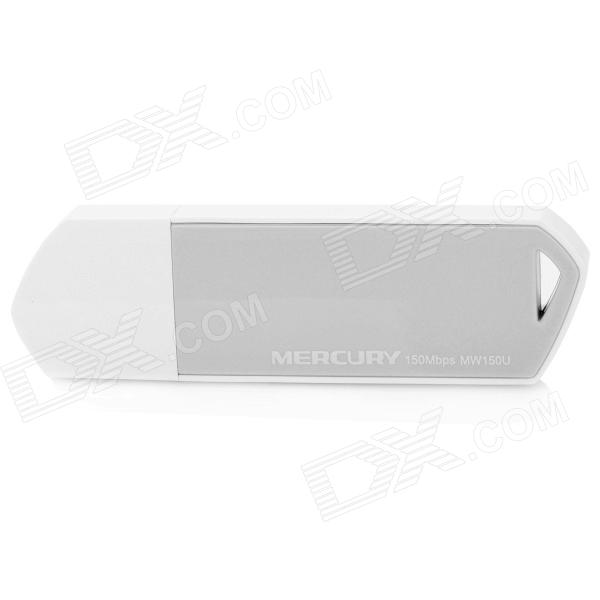 Mercury MW150U 20mW 802.11b/g/n 2dBi USB Wireless Network Adapter - White