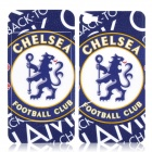 FC Football Club Chelsea Style Protective Front + Back Skin Sticker for iPhone 4 / 4S - Blue
