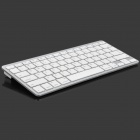 Ultra-thin Bluetooth V2.0 Wireless 78-Key Keyboard - White (2 x AAA)