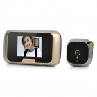 "PENCHAO 1008 2.8"" Screen 300KP Camera Peephole Viewer Visual Doorbell - Champagne + Black"