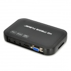1080p multi-media player w / USB / SD / HDMI / VGA / AV / ypbpr - preto