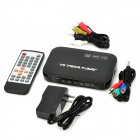 1080p multi-media player w / USB / SD / HDMI / VGA / AV / ypbpr - negro