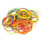 Hair Braiding Elastic Poly Rubber Bands - Random Color (150 PCS)