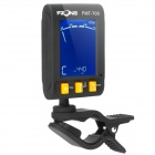 2-in-1 1.6'' LCD Clip-On Digital Tuner / Metronome for Guitar + More - Black (1 x CR2032)