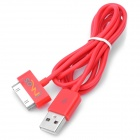 IMOS Dock Connector auf USB Kabel für Apple Series - Red (100cm-Länge)