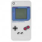 Game Boy Pattern Replacement Tempered Glass Back Cover Housing Case for iPhone 4S - White
