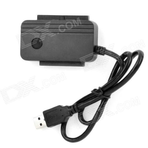 USB 3.0 to IDE / SATA Converter Adapter for 2.5 / 3.5 Hard Disks - Black usb 2 0 to all ide sata hdd adapter converter cable