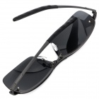 Stylish Sports Resin Lens Titanium Alloy Half-Frame Polarized Sunglasses - Dark Green