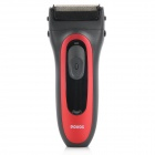 POVOS PS6206D Rechargeable Dual-Blade Reciprocating Electric Shaver Razor - Black + Red