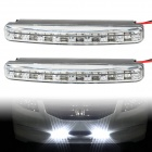 8W 8-LED White Light Car Daytime Running Light / Foglight (12V / 2PCS)