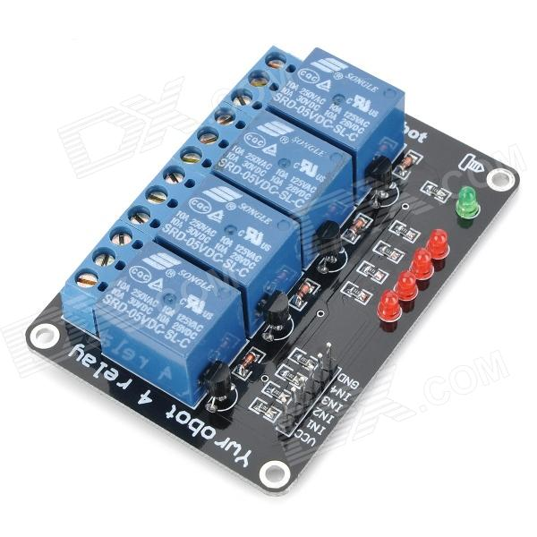 цена на 4-Channel 5V Relay Module Expansion Board for Arduino (Works with Official Arduino Boards)