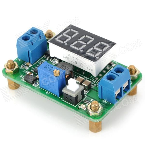 DC-DC Synchronous Rectification Power Module LM2596 w/ Voltage Display - Green