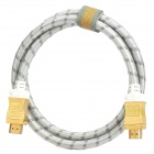 FUJI Gold Plated V1.4 Male to Male HDMI Connection Cable - Golden + Silver (1m-Length)