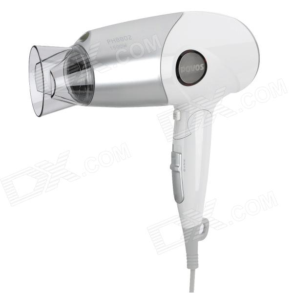 POVOS PH8802 Portable Folding 1600W Hair Dryer - Silver + White