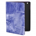 Cool Denim Style Protective PU Leather Case for Ipad 2 / The New Ipad - Blue