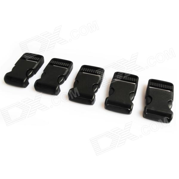 Luggage Strap Belt Clip Plastic w/ Side Release Buckles - Black (5-Piece Pack) стоимость