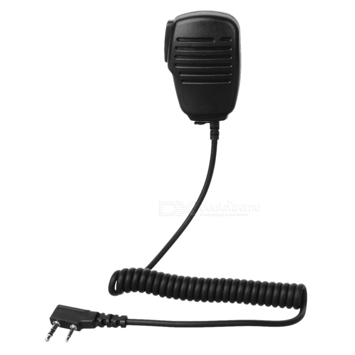 3.5mm+2.5mm Clip-on Microphone for Kenwood Walkie Talkies (1.5-Meter Cable)