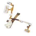 Replacement Audio Earphone Jack Power Volume Key Flex Cable for Iphone 3gs - Golden + White